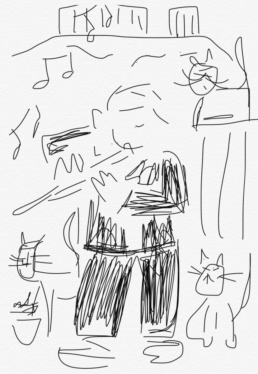 The cat-loving flute player